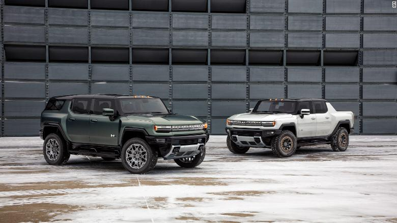 The top levels of the GMC Hummer EV SUV will have less maximum horsepower than the truck but just as much torque, a measure of raw pulling power.