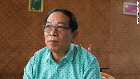 Myanmar's Shan State Army Commander, Yawd Serk on March 27 in Chiang Mai, Thailand.