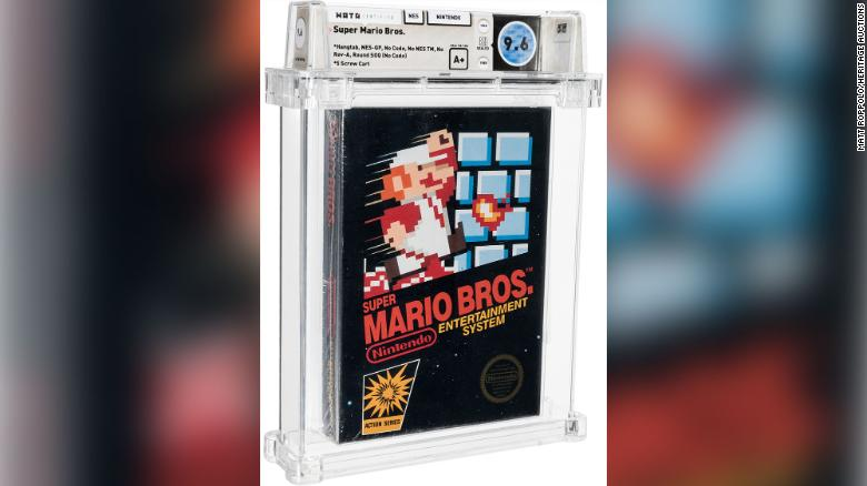 Rare Super Mario Bros. game sells for a record $660,000