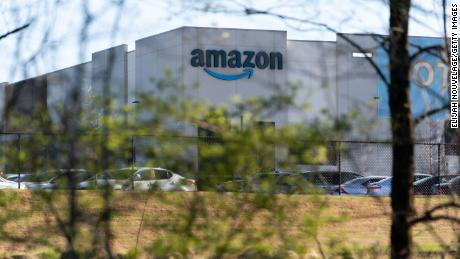 BESSEMER, AL - MARCH 29: The Amazon fulfillment warehouse at the center of a unionization drive is seen on March 29, 2021 in Bessemer, Alabama. Employees at the fulfillment center are currently voting on whether to form a union, a decision that could have national repercussions. (Photo by Elijah Nouvelage/Getty Images)