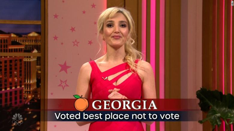 SNL calls out Georgia for its new voting law during cold open