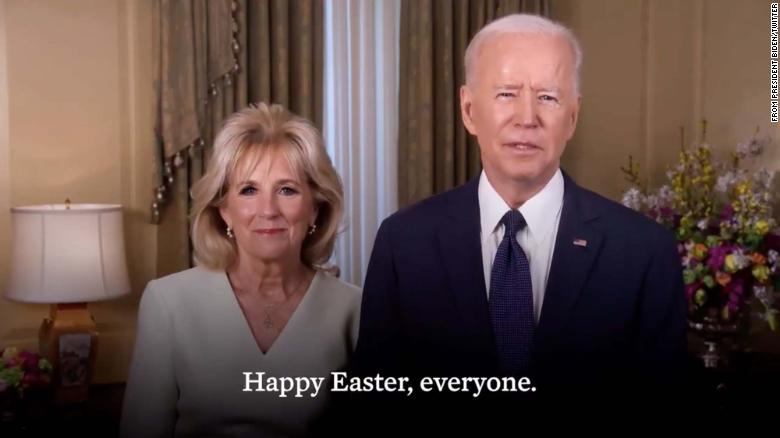 The Bidens encourage Americans to get vaccinated in Easter message