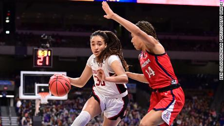 Haley Jones led Stanford with 17 points and was named the Final Four's most oustanding player.