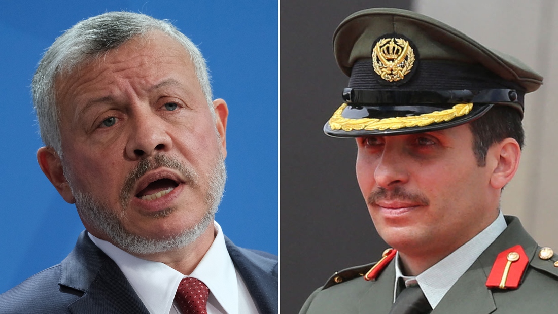King Abdullah II of Jordan and his half brother, former crown prince Hamzah bin Al Hussein