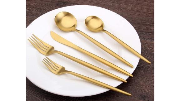 Sharecook Matte Silverware Set, Set of 20