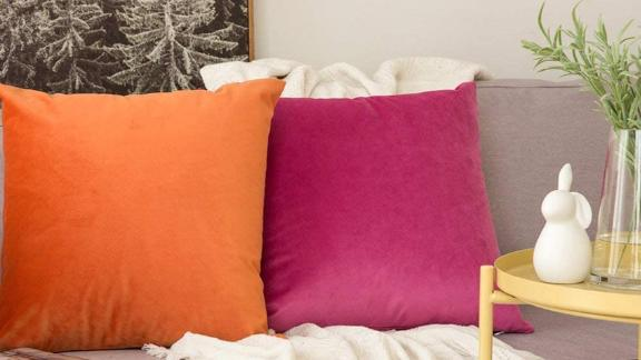 Miulee Velvet Pillow Covers, Pack of 2
