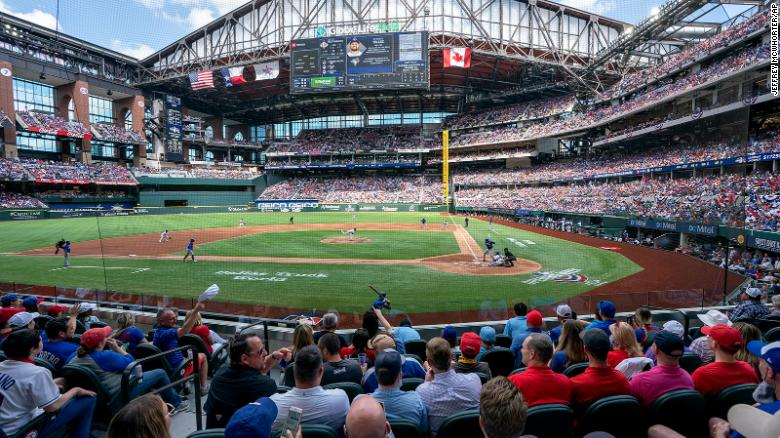 Texas Rangers sell over 38,000 tickets to home opener, marking one of the first full-capacity sporting events in a year
