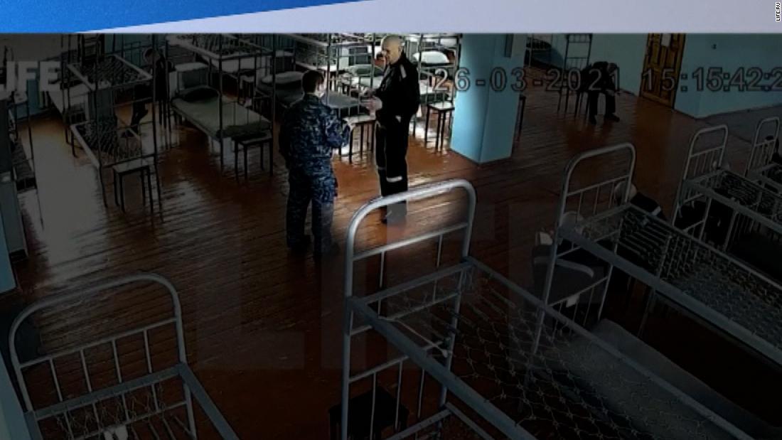 Videos show Putin critic inside prison