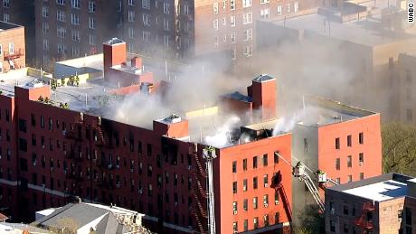 About 240 people, or 90 families, have been displaced by the fire, according to the Fire Department of New York (FDNY) .