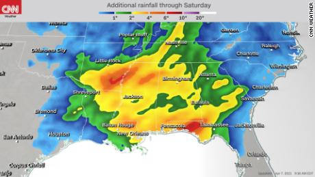 30 million people in the south threatened by bad weather on Wednesday