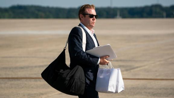 Andrew Giuliani after arriving on Air Force One at Joint Base Andrews in Maryland in July 2020.