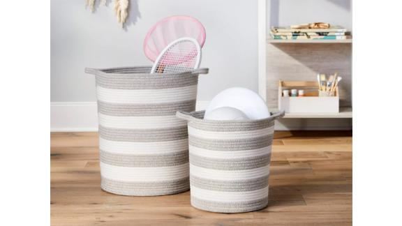 Pillowfort Coiled Rope Stripe Basket