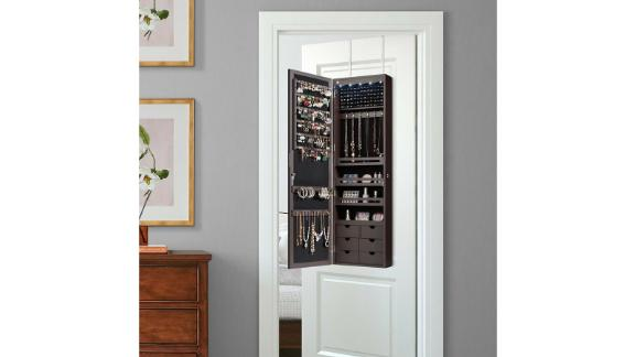 Vittori 5 LEDs Over-the-Door Jewelry Armoire with Mirror