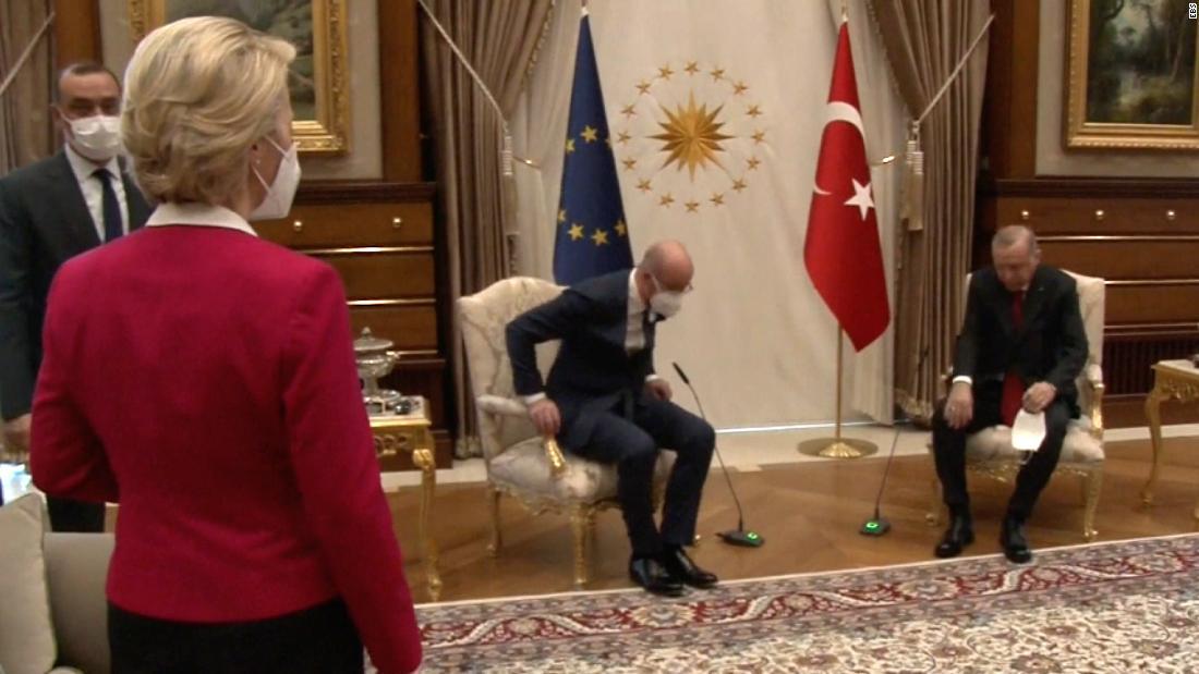 EU chief says Turkey chair snub happened 'because I am a woman' – CNN