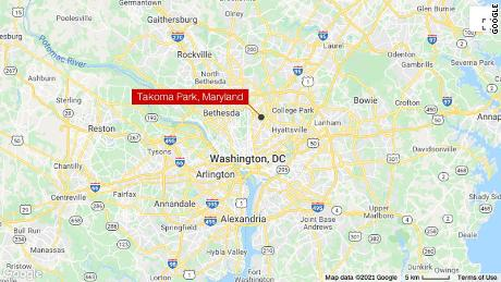 The incident happened in the parking lot of a condominium complex in Takoma Park, Maryland.