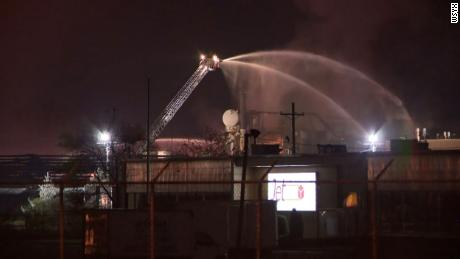 The Columbus Division of Fire said it received a report of an explosion at the plant shortly after midnight.