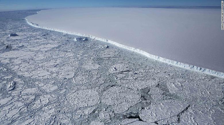 This huge iceberg calved from the Larsen C ice shelf.