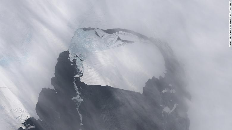 This image shows a large iceberg which has separated from Pine Island Glacier.