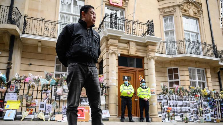 Myanmar ambassador says he's locked out of London embassy in 'coup'