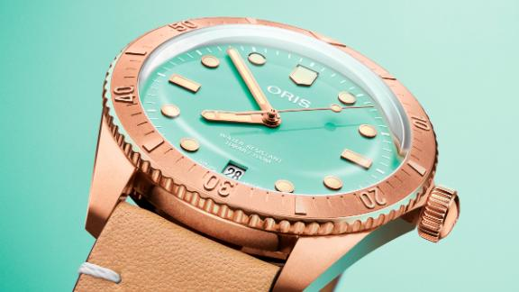 The bronze watch come in a gelateria of colors for $2,300.