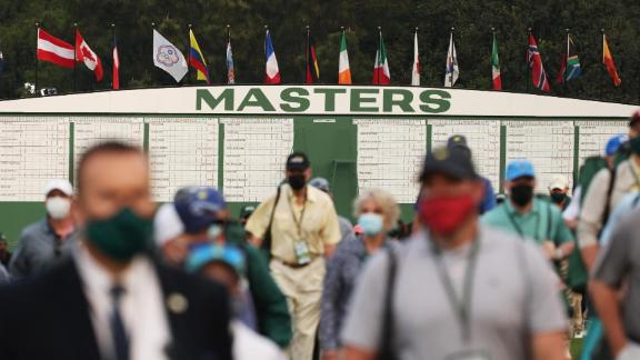 This was the first time in two years that the Masters had allowed spectators on the course.