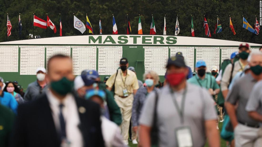 This is the first time in two years that the Masters has allowed spectators on the course.
