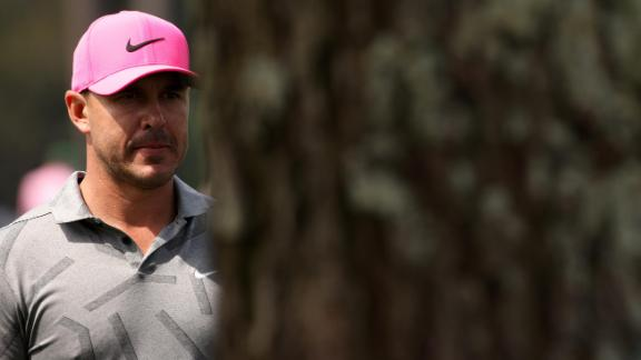 Four-time major winner Brooks Koepka had knee surgery less than a month ago, but he was on the course for the first round.