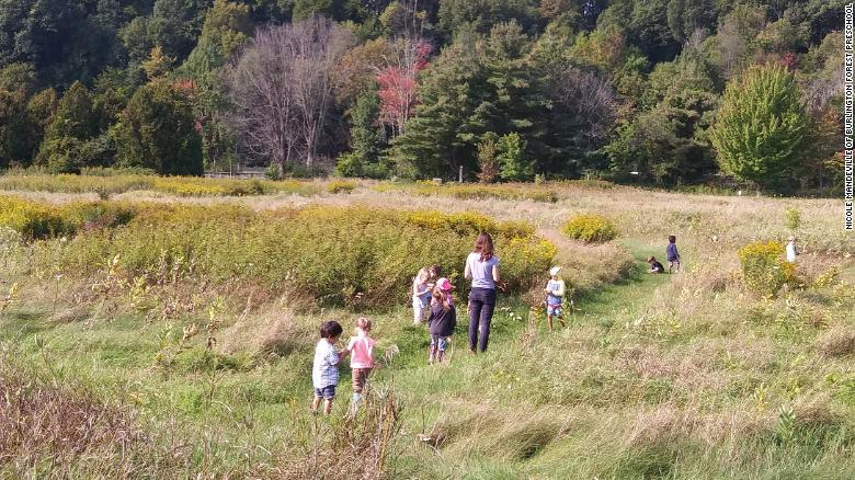 At Burlington Forest Preschool in Vermont, the young students head outdoors year-round.