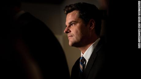 Rep. Matt Gaetz during a news conference on Capitol Hill in October 2019.