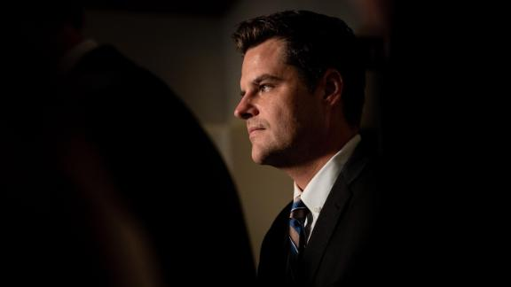 Rep. Matt Gaetz during a news conference on Capitol Hill in Washington, Oct. 8, 2019.