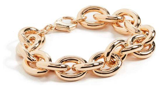 Kenneth Jay Lane Gold Link Chain Bracelet