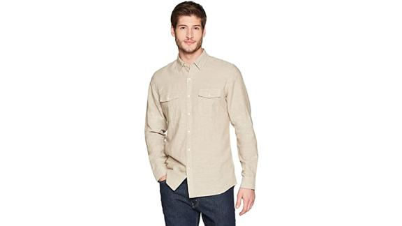 Goodthreads Slim Fit Long Sleeve Linen and Cotton Blend Shirt