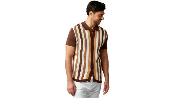 Stacy Adams Short Sleeve Knit Polo Shirt
