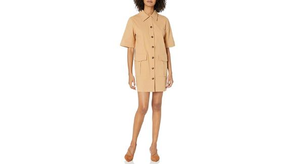 The Fifth Label Collared Short Sleeve Utility Shirt Dress