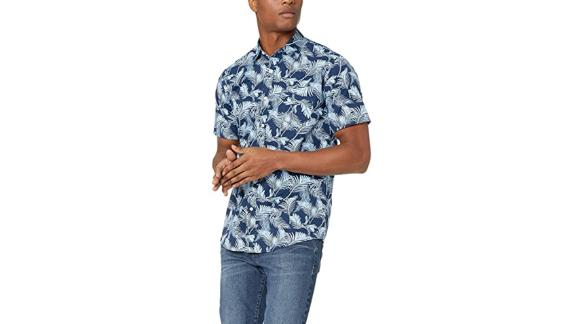 Amazon Essentials Regular Fit Short Sleeve Print Shirt