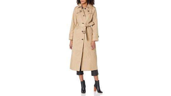 London Fog Single Breasted Long Trench Coat