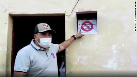 Backlash after mayors marked homes with Covid-19 warning signs in Venezuela