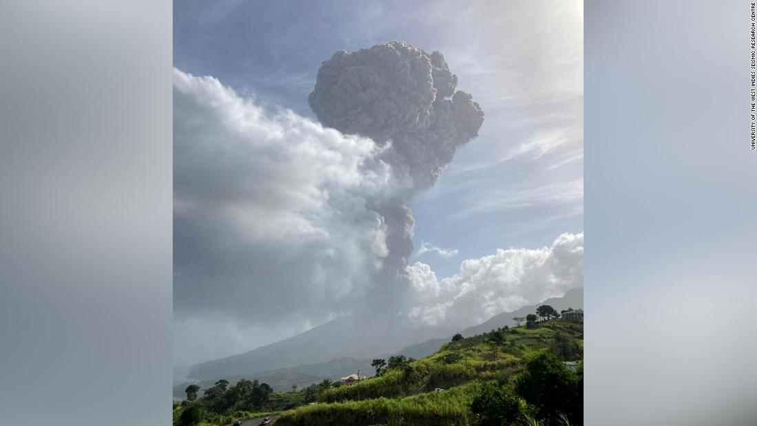 Volcano erupts for a second time on Caribbean island of St. Vincent – CNN