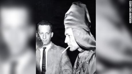 Robert Shelton, in the foreground with a cigarette, was the leader of the United Klans of America.