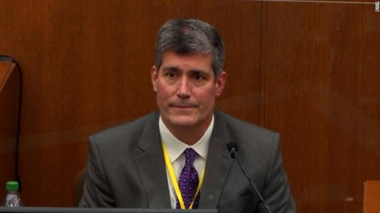 Dr. Andrew Baker, the Hennepin County Chief Medical Exmainer who performed the autopsy of George Floyd, took the stand to testify Friday.