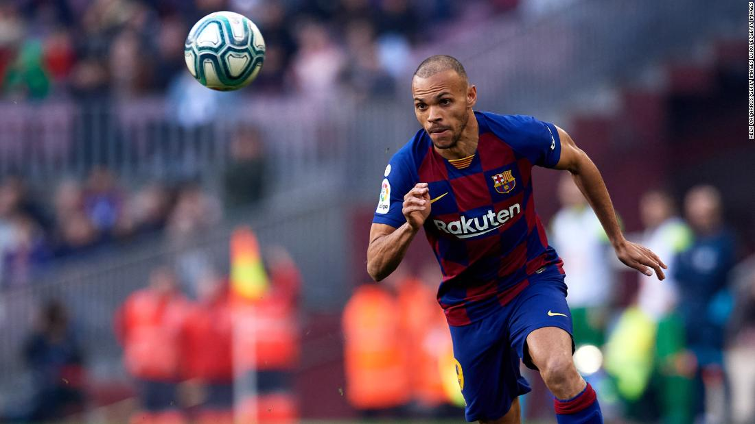 Martin Braithwaite spent time in a wheelchair as a child; now he's Lionel Messi's wingman at Barcelona