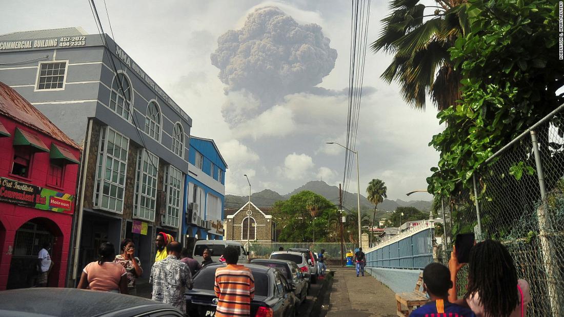 Evacuations continue after Caribbean volcano's explosive eruption