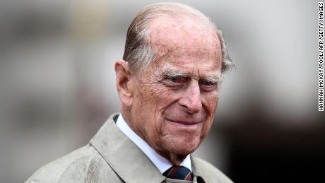 Britain's Prince Philip, Duke of Edinburgh, in his role as Captain General, Royal Marines, attends a Parade to mark the finale of the 1664 Global Challenge on the Buckingham Palace Forecourt in central London on August 2, 2017. - After a lifetime of public service by the side of his wife Queen Elizabeth II, Prince Philip finally retires on August 2, 2017,at the age of 96. The Duke of Edinburgh attended a parade of Royal Marines at Buckingham Palace, the last of 22,219 solo public engagements since she ascended to the throne in 1952. (Photo by HANNAH MCKAY / POOL / AFP) (Photo by HANNAH MCKAY/POOL/AFP via Getty Images)