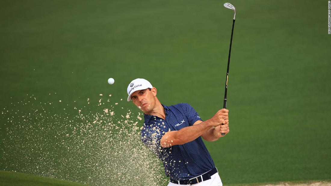 Billy Horschel has unfortunate slip on bank of Masters hole after removing shoes and socks for shot in water