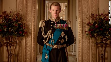 Matt Smith plays the young Prince Philip in