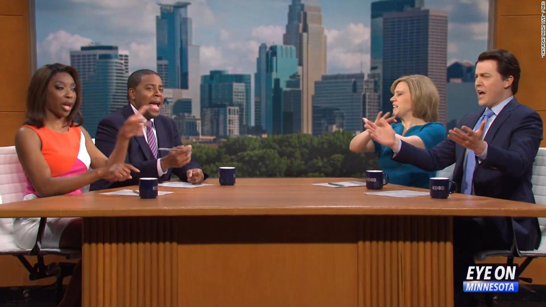'SNL' sees Minnesota news anchors take on the Derek Chauvin trial