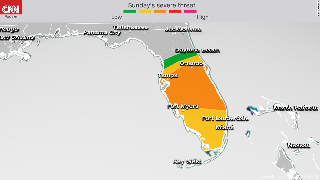 Severe storm threat has increased across Florida causing airport delays