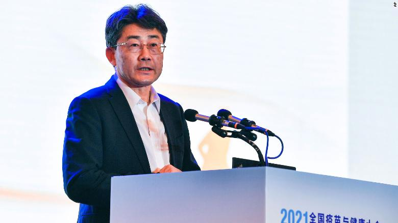 Gao Fu, director of the Chinese Center for Disease Control and Prevention, speaks at the National Vaccines and Health conference in Chengdu, Sichuan province Saturday.