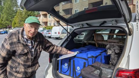 Everette Burkard prepares to deliver meals in Nevada County for the Meals on Wheels program.
