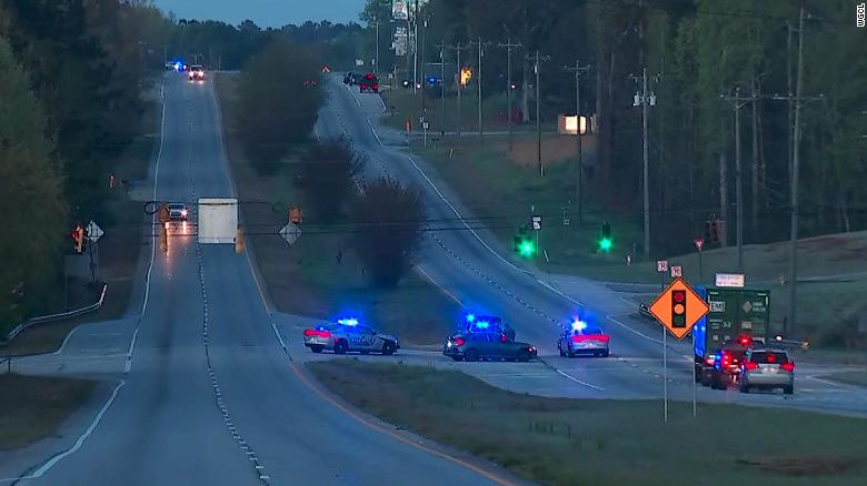 Multiple officers shot during police chase in Georgia